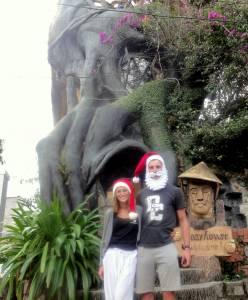 Świątecznie przed Crazy House ;)