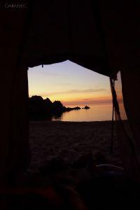 Widok z namiotu o 5 rano :)