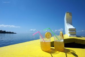Łódka, drinki, słońce - czego chcieć więcej?