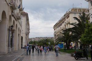 Główna ulica w centrum Saloników