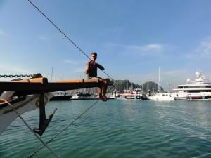 Lakierowanie łodzi w toku! ;)