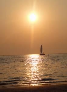 Zachód słońca na Cenang Beach