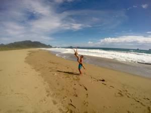 Wygłupy na plaży