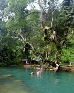 Ta mała zacieszona w locie to ja ;) Blue Lagoon