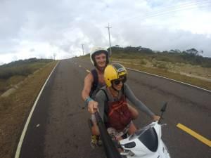 Pierwszy raz w życiu prowadzę skuter! :D