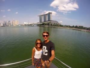 Jedno z ostatnich wspólnych zdjęć z tej wyprawy - z widokiem na Marina Bay Sands