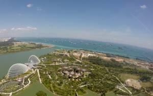 Widok z 57. piętra (Marina Bay Sands)