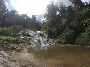 Wodospad z naturalną zjeżdżalnią