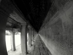 Angkor Wat w czerni i bieli