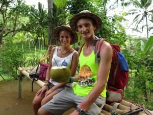 Gamońscy i ogroooomny kokos (prosto z palmy)!