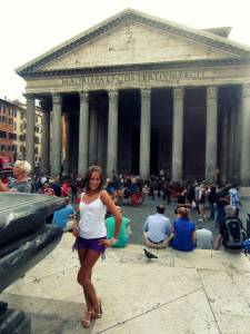 Zaciesz przed Panteonem