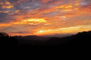 Zachód słońca na View Point w Nong Khiaw