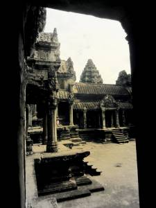 Wnętrze Angkor Wat