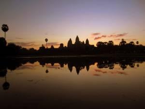 Wschód słońca - Angkor Wat