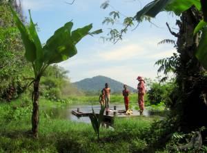 Mieszkańcy okolic świątyni Banteay Srai