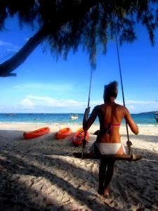 Huśtawka na plaży - marzenie każdej dziewczynki (małej i dużej)! ;)