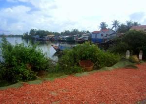 Wioska rybacka koło Kampotu