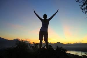 Przepiękny zachód słońca nad Mekongiem!