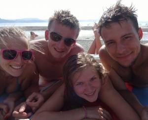 Na norweskiej plaży fajnie jest!