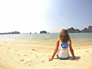 Członkini Klubu Podróżników BIT na Tanjung Rhu Beach!