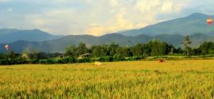 Vang Vieng można też zobaczyć z góry - będąc w balonie :)