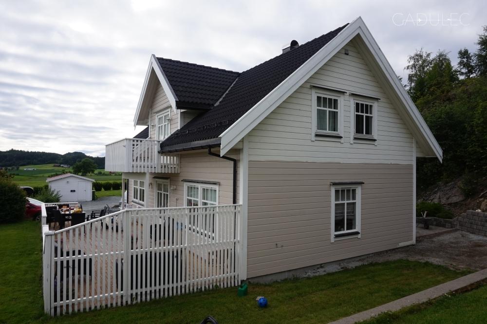 Drewniane domy w Norwegii
