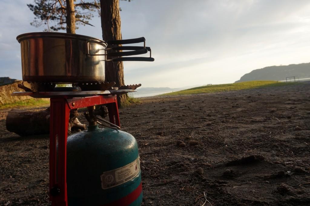 Norwegia gotowanie pod namiotem