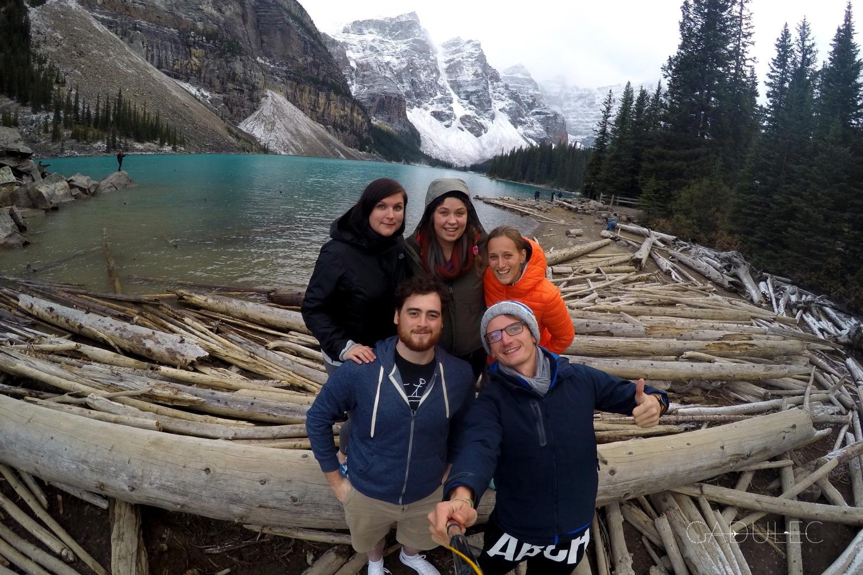 Emilie (czarne włosy) podwiozła nas na stopa dwukrotnie - na Wyspie Vancouver i 2000km dalej - z Jasper do Banff NP! Niesamowite są takie ponowne, przypadkowe spotkania!