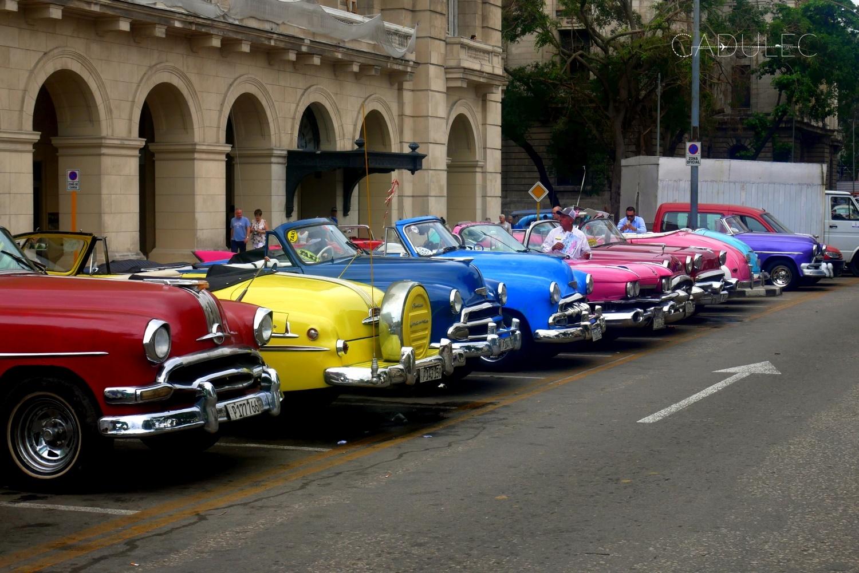 Zabytkowe samochody, Hawana, Kuba