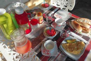 Przykładowe śniadanie w casa particulares