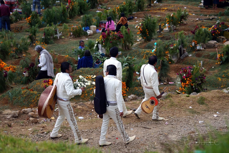Mariachi na cmentarzu