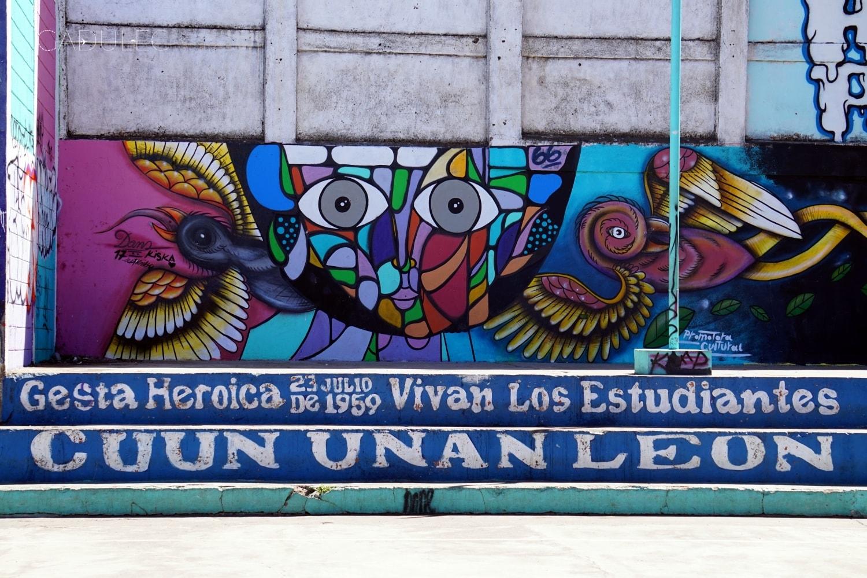 Graffiti ku pamięci studentom, którzy zginęli w strajku w 1959 roku