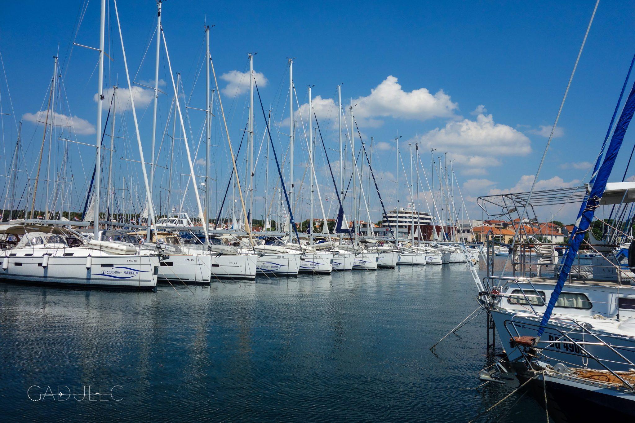 Port w Biograd na Moru (tu zaczynaliśmy i kończyliśmy rejs).