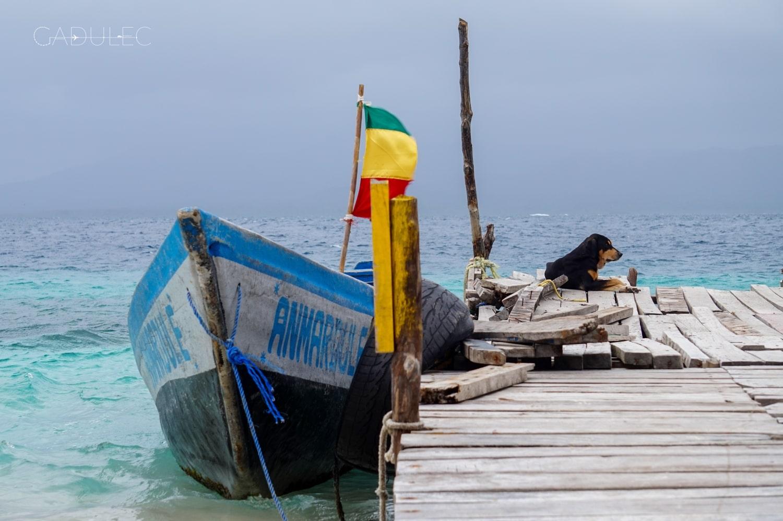 San-Blas-łódka