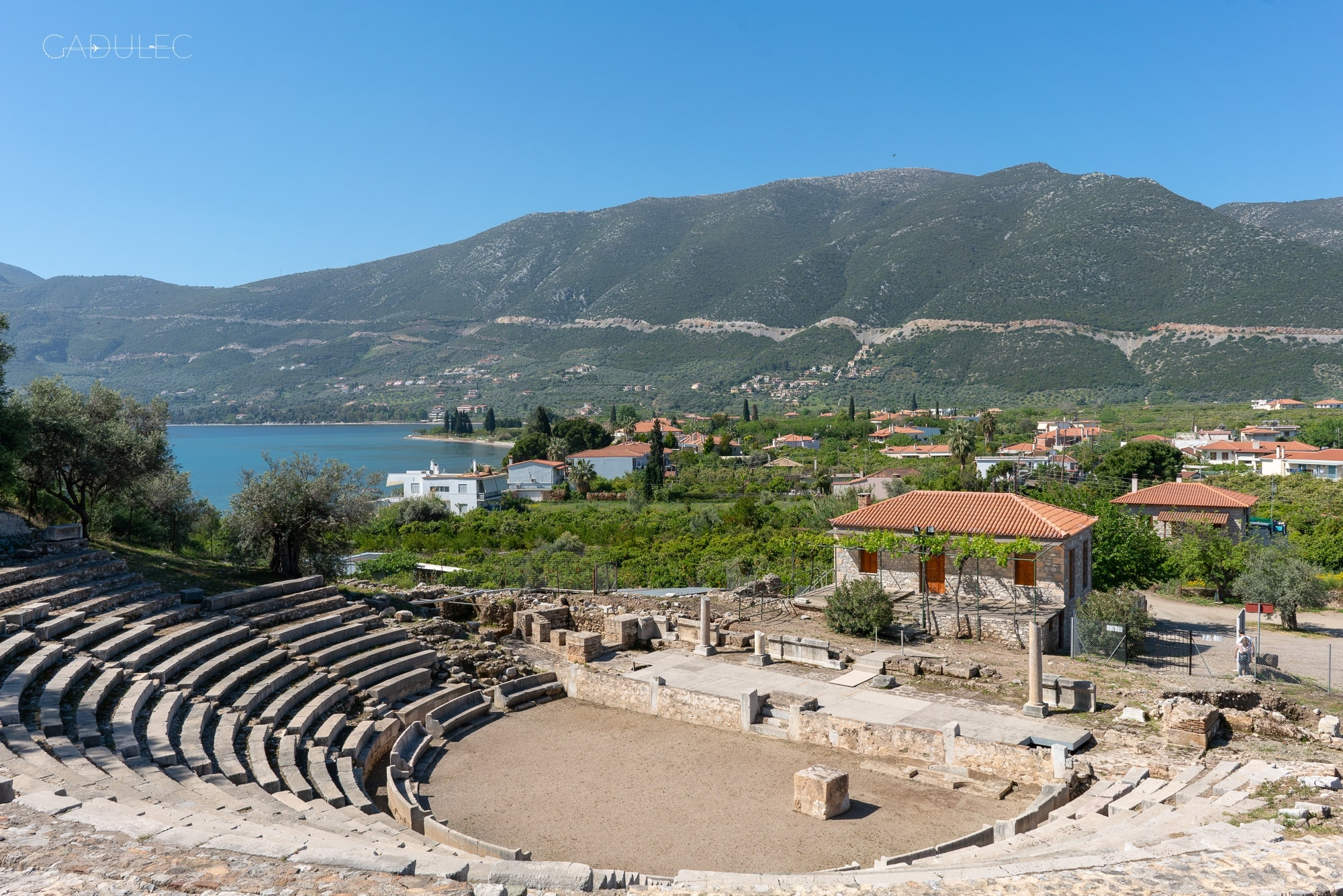 Amfiteatr koło Palaia Epidauros
