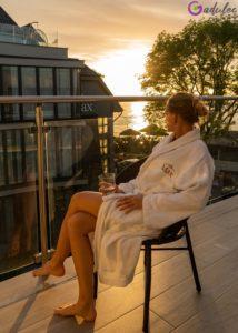Zachód słońca w Hotelu MAX