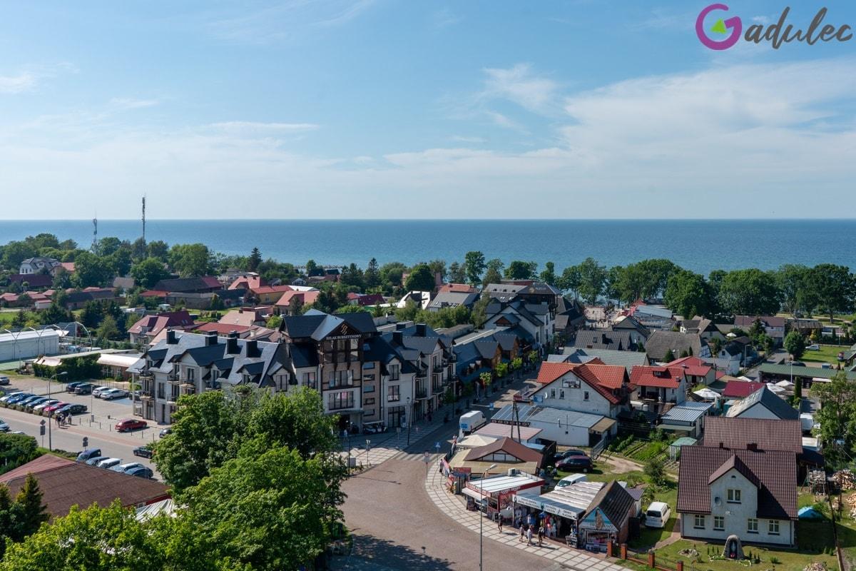 Widok z latani morskiej w Jarosławcu