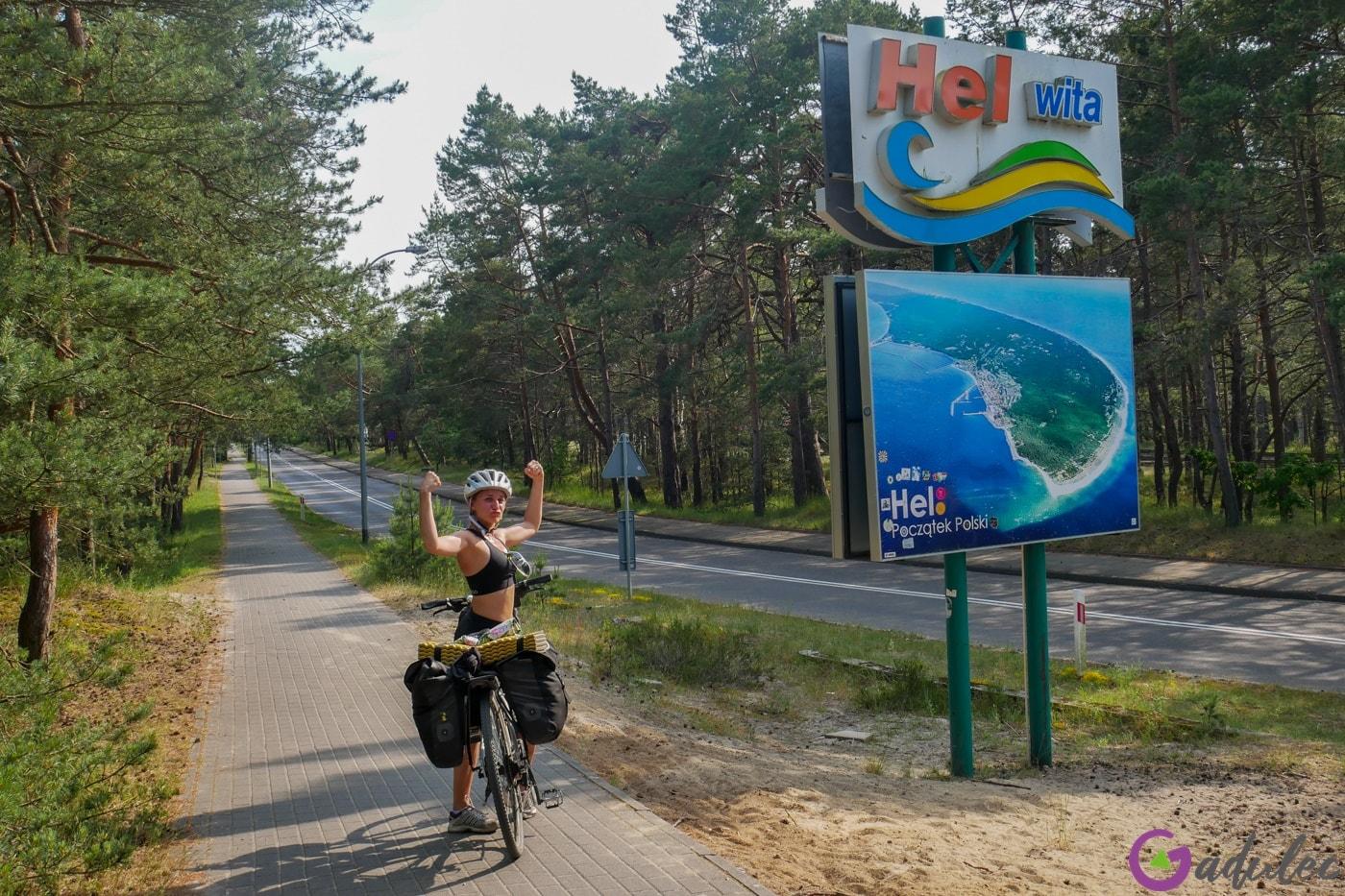 Rowerem do miasta Hel