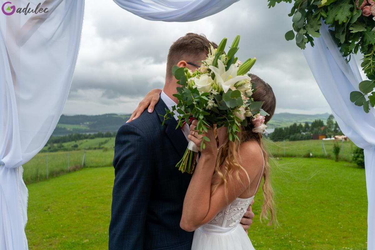 Ślub plenerowy - bukiet