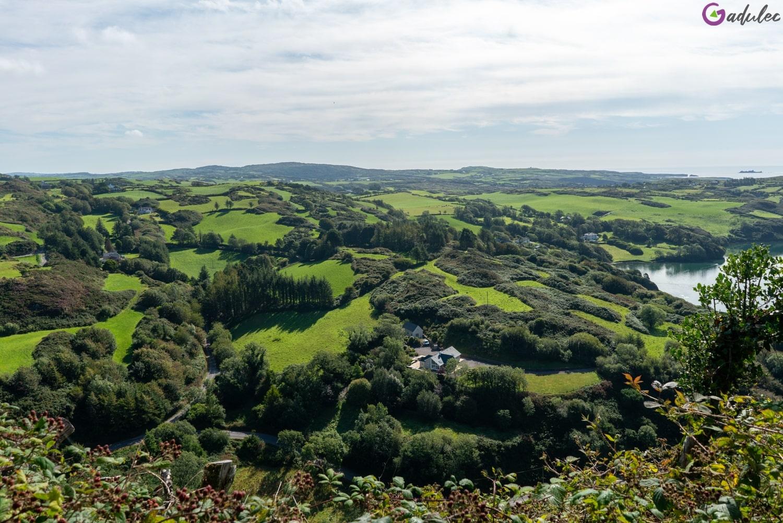Knockomagh Irlandia - widok ze szczytu